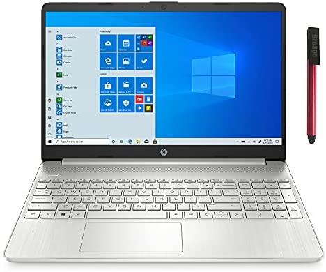 "2021 Newest HP 15 15.6"" FHD Laptop Computer, Hexa-Core AMD Ryzen 5 5500U up to 4.0GHz (Beat i5-10500H), 8GB DDR4 RAM, 256GB PCIe SSD, AC WiFi, Bluetooth 5, Type-C, Webcam, Windows 10, 64GB Flash Drive"