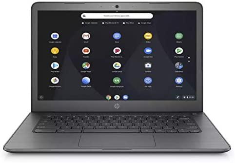 HP Chromebook 14-inch HD Laptop, Intel Celeron N3350 up to 2.4GHz, 4 GB DDR4 SDRAM, 32 GB eMMC Storage + Oydisen 32GB SD Card, Webcam, WiFi, Bluetooth, Chrome OS (Google Classroom Ready)