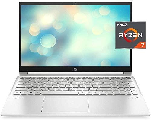 "HP 2021 Pavilion Laptop, 15.6"" FHD IPS Display, AMD Ryzen 7 5700U (>i7-10710U), 16GB RAM, 512GB SSD, Webcam, B&O Audio, WiFi 6, Bluetooth, Backlit Keyboard, Fingerprint, Numeric Keypad, Win 10 Home"