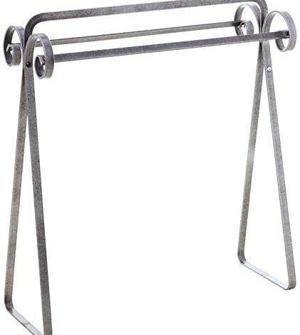 Enclume Premier Scrolled Quilt Rack, Hammered Steel
