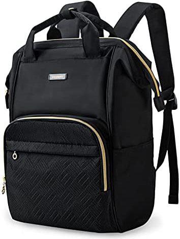 Laptop Backpack for Women, BAGSMART Travel Backpacks 15.6 Inch Notebook Doctor Back pack (black)