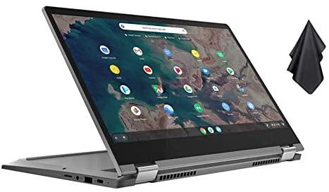 """2021 New Lenovo Chromebook Flex 5 13"""" Laptop, FHD (1920 x 1080) Touch Display, Intel Core i3-10110U Processor, 4GB DDR4 RAM, 64GB SSD, Backlit Keyborad, Webcam, WiFi, Chrome OS + Oydisen Cloth"""