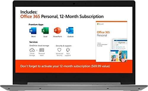 "2020 Lenovo IdeaPad 14"" Laptop Computer, AMD A6-9220e 1.6GHz, 4GB Memory, 64GB eMMC Flash Memory, AMD Radeon R4, AC WiFi, Microsoft Office 365, 2 Year Warranty, Gray, Windows 10 Home"