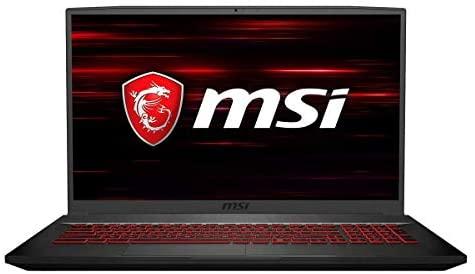 """MSI GF75 Thin 17.3"""" 144Hz Full HD Gaming Laptop, Intel Core i5-10300H 2.5GHz, 16GB RAM, 512GB PCIe SSD, NVIDIA GeForce GTX 1650Ti 4GB GDDR6, Windows 10 w/ RATZK 32GB USB Drive"""