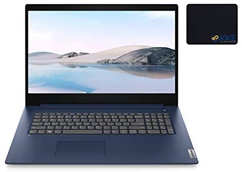 "2021 Newest Lenovo IdeaPad 3 Laptop, 17.3"" HD+, Intel Core i5-1035G1 Processor, 12GB DDR4 RAM, 512GB SSD, HDMI, Bluetooth, Wi-Fi, Webcam, Online Class, Zoom, Windows 10, Abyss Blue, KKE Bundle"