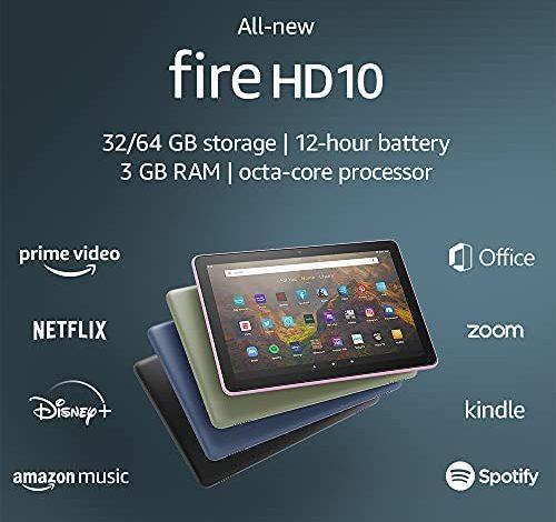 "All-new Fire HD 10 tablet, 10.1"", 1080p Full HD, 32 GB, latest model (2021 release), Black"