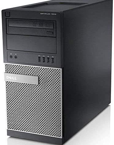 OptiPlex 7010 Minitower Desktop PC - Intel Core i3-3240 3.4GHz, 8GB, New 240GB SSD, DVD, Windows 10, WiFi (Renewed)