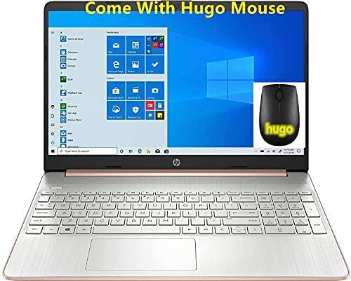 2021 HP 15.6inch HD Laptop, AMD Athlon Silver 3050U Up to 3.2Ghz , 4GB DDR4 RAM, 128GB SSD, HDMI, WiFi, Bluetooth, Webcam, with Hugo M, Rose, Windows10 S (Renewed)