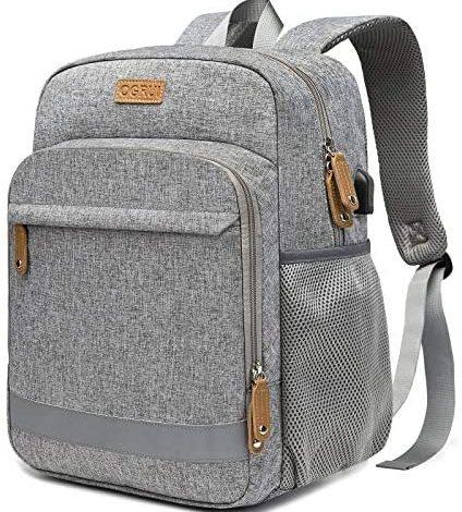 Laptop Backpack Business bag for Men Women Waterproof School Travel Daypack (Dark Grey)