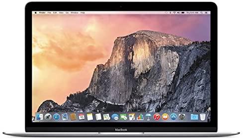 Apple Macbook Retina Display 12in Laptop (2015) - 256GB SSD, 8 GB Memory, Silver (Renewed)