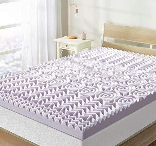 Best Price Mattress Memory Foam Bed Mattress Topper, Queen, Lavender