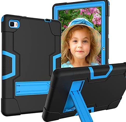 "Case for Dragon Touch Notepad 102 Tab , Soatuto Fit for Blackview Tab 8E Case、Teclast P20 HD M40、Pritom Tronpad L10、Ibbwb 10 inch、Winnovo wintab P20、Yestel T5 Tab 、BinBin 10"" Tablet Case (Black+Blue)"