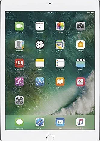 Apple iPad Mini 4, 32GB, Silver - WiFi (Renewed)