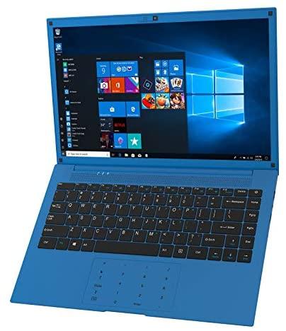 VUCATIMES Laptop Computer 14-inch Windows-10 - IPS Full HD Display Intel Quad-Core 6GB RAM 128GB SSD AC WiFi Numeric Keypad Mini HDMI Cobalt Blue (4 Core)