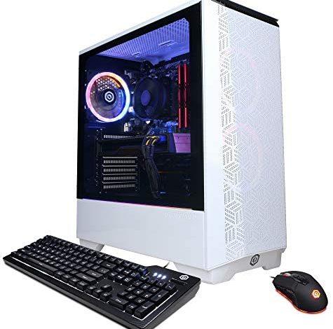 CYBERPOWERPC Gamer Master PC, AMD Ryzen 3 3100 3.6GHz, 8GB DDR4, GeForce GTX 1660 6GB, 240GB SSD, 1TB HDD, WiFi & Win 10 Home (GMA610V2)