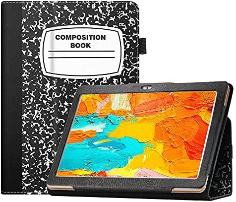 Transwon Flip Case for AZPEN A1080 Tablet/ AZPEN Android Tablet 10 Inch, AZPEN A1080 Case, AZPEN Innovate 10 Tablet Case, AZPEN Tablet Case 10.1 Inch - Composition Book