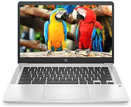 HP Chromebook 14-inch HD Laptop, Intel Celeron N4000, 4 GB RAM, 32 GB eMMC, Chrome (14a-na0070nr, Forest Teal)