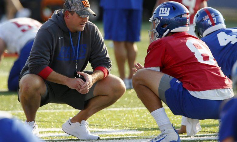 Joe Judge embracing fun side at Giants training camp