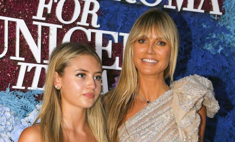 Heidi Klum, Daughter Leni Totally Twinned on Unicef Red Carpet