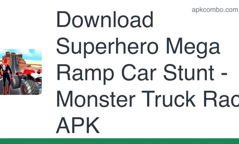 Download Superhero Mega Ramp Car Stunt - Monster Truck Race APK