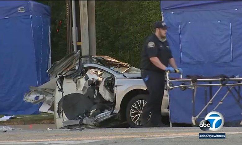 Burbank Street Racing Crash