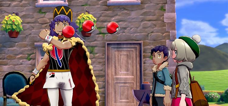 Leon throwing Poke balls in Sword & Shield