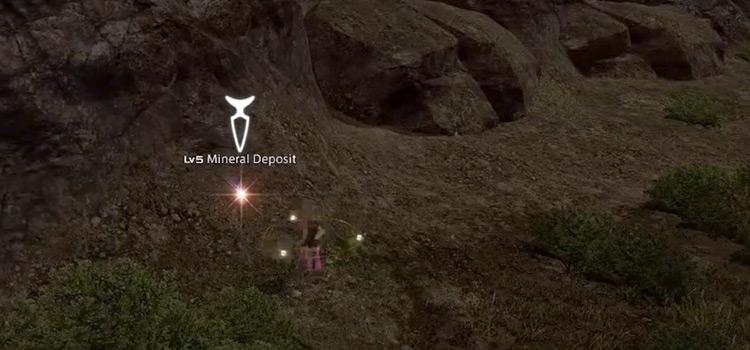 Mineral Deposit Area in Final Fantasy XIV
