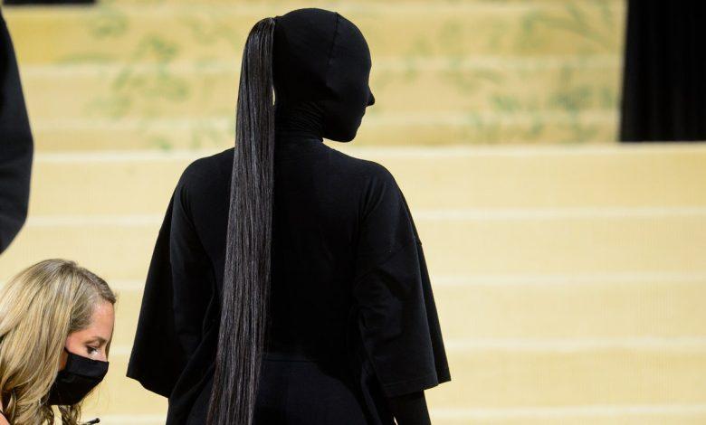 Kim Kardashian's 2021 Met Gala Ponytail Cost $10,000