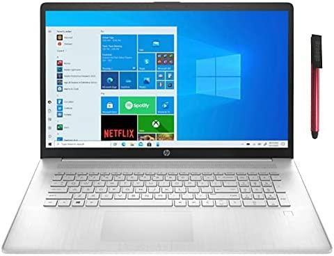 "HP 17 17.3"" HD+ Touchscreen Laptop Computer, Hexa-Core AMD Ryzen 5 5500U (Beat i5-10500H), 64GB DDR4 RAM, 2TB PCIe SSD + 1TB HDD, 802.11AC WiFi, Bluetooth 5.0, Windows 10, 64GB Flash Stylus"