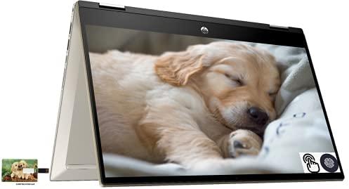 "Newest HP Pavilion x360 2-in-1 Convertible Business Laptop, 14"" FHD IPS Touchscreen, Intel Core i5-1135G7, 16GB RAM, 1TB SSD, Fingerprint Reader, Wi-Fi 6, Windows 10 Pro | 32GB Tela USB Card"