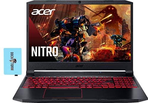 """Acer Nitro 5 Gaming & Entertainment Laptop (AMD Ryzen 5 4600H 6-Core, 8GB RAM, 256GB PCIe SSD + 500GB HDD, GTX 1650, 15.6"""" Full HD (1920x1080), WiFi, BT, Backlit Keyboard, Win 10 H) w/Hub"""