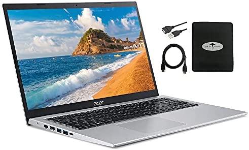 "2021 Newest Acer Aspire 5 15.6"" FHD Laptop, Intel Core i3-1115G4 (up to 4.1GHz), 12GB RAM 1TB HDD, WiFi 6 USB-A&C Webcam HDMI, Windows 10 S w/Ghost Manta Accessories"
