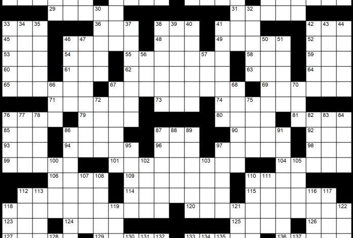 "Solution to Evan Birnholz's Sept. 12 Post Magazine crossword, ""Voice-overs"""