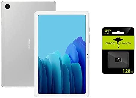 "Samsung Galaxy Tab A7 10.4"" (32GB, 3GB, WiFi + Cellular) 4G LTE Tablet GSM Unlocked (Global, T-Mobile, AT&T, Metro) International Model SM-T505 + 128GB MicroSD Card"