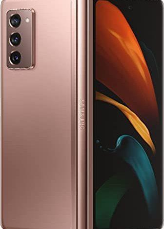 SAMSUNG Electronics Galaxy Z Fold 2 5G F916U | Android Cell Phone | 256GB Storage | US Version Smartphone Tablet | 2-in-1 Refined Design, Flex Mode | Mystic Bronze - Verizon Locked - (Renewed)