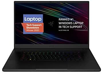 "Razer Blade Pro 17 Gaming Laptop 2020: Intel Core i7-10875H 8-Core, NVIDIA GeForce RTX 2080 Super Max-Q, 17.3"" FHD 300Hz, 16GB RAM, 512GB SSD, CNC Aluminum, Chroma RGB, Thunderbolt 3, SD Card Reader"