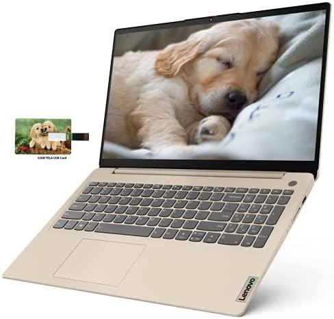 "Newest Lenovo IdeaPad 3 15 Business Laptop Computer, AMD Ryzen 5 5500U, 15.6"" FHD Display, 8GB RAM, 128GB SSD, Wi-Fi, Bluetooth 5, Webcam, Audio, Windows 10 Pro | 32GB Tela USB Card"