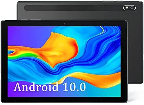 Android 10.0 Tablet 10 inch, 2GB RAM 32GB Storage, WiFi Tablets with 8MP Rear Camera, Quad-Core Processor, 1280x800 IPS HD Display, 6000mAh Battery, Bluetooth/FM (Black)