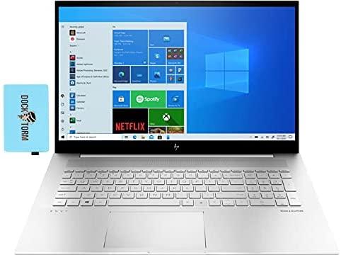 "HP Envy Home & Business Laptop (Intel i7-1165G7 4-Core, 32GB RAM, 1TB PCIe SSD, Intel Iris Xe, 17.3"" Touch Full HD (1920x1080), Fingerprint, WiFi, Bluetooth, Webcam, Win 10 Pro) with Hub"