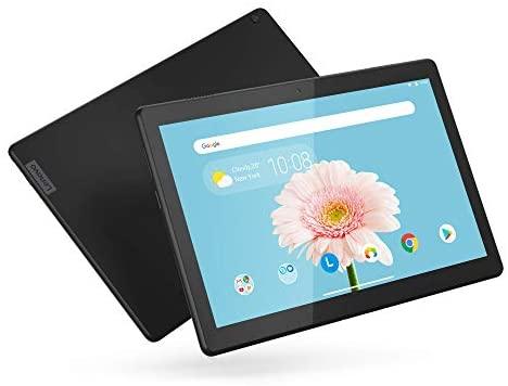 "Lenovo Tab M10 HD 10.1"" Tablet, Android 9.0, 32GB Storage, Quad-Core Processor, WiFi, Bluetooth, ZA4G0078US, Slate Black (Renewed)"