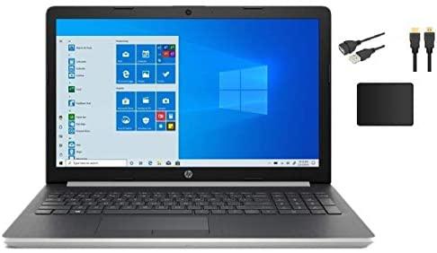 HP 15.6 inch HD LCD Touchscreen Laptop w/ Accessories | Intel Quad Core i5-8265U | 8GB DDR4 | 1TB HDD | HDMI | DVD | Windows 10 | Silver