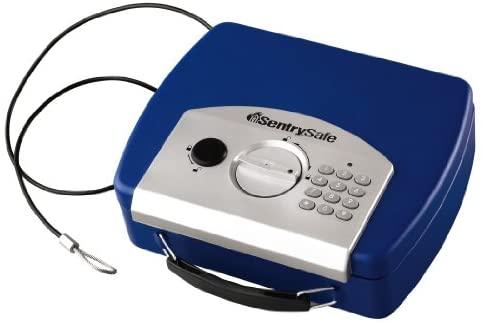 SentrySafe P008EBL 0.08 Cubic Foot Electronic Compact Safe, Blue