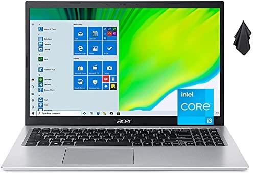 """2021 Newest Acer Aspire 5 Slim Laptop, 15.6"""" FHD LED Display, 11th Gen Intel Core i3-1115G4 Processor, 12 GB DDR4 RAM, 1 TB HDD, WiFi 6, Amazon Alexa, Windows10 Home (Latest Model)"""