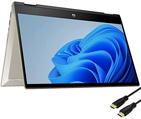 "HP Pavilion x360 2-in-1 14"" IPS FHD Touchscreen Laptop, Intel Core i5-1135G7, Intel Iris Xe Graphics, 16GB DDR4 RAM, 512GB SSD, Backlit Keyboard, Fingerprint, Wi-Fi-6, Windows 10 Home, Gold"