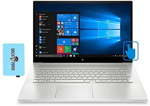 "HP Envy 17t CG Home and Business Laptop (Intel i7-1165G7 4-Core, 16GB RAM, 2TB HDD, Intel Iris Xe, 17.3"" Touch Full HD (1920x1080), Fingerprint, WiFi, Bluetooth, Webcam, Win 10 Home) with Hub"