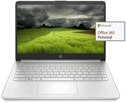 """2021 Newest HP 14"""" HD Laptop Light-Weight, AMD Athlon 3050U(Up to 3.2GHz), 16GB RAM, 512GB SSD + 64GB eMMC, 1 Year Office 365, WiFi, Bluetooth, USB-A&C, HDMI, Webcam, Win10, w/Ghost Manta Accessories"""