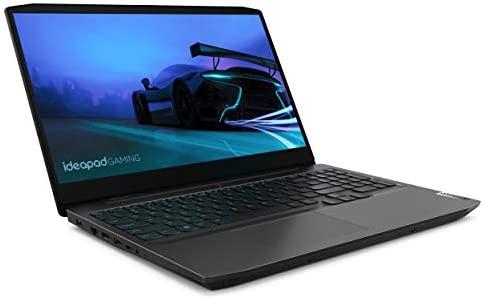 """Lenovo IdeaPad Gaming 3 15"""" Laptop, 15.6"""" FHD (1920 x 1080) Display, AMD Ryzen 5 4600H Processor, 8GB DDR4 RAM, 256GB SSD, NVIDIA GeForce GTX 1650 Graphics, Windows 10, 82EY00FDUS, Onyx Black"""