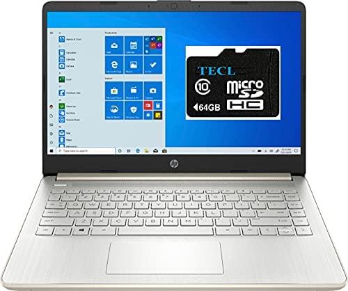 2021 HP Stream 14inch HD Display, Intel Celeron N4020 Dual-Core Processor, 4GB DDR4 Memory,128GB Storage(64GB eMMC+64GB TECL Card) WiFi, Webcam, Bluetooth, HDMI,1-Year Microsoft 365 Win10 S Pale Gold