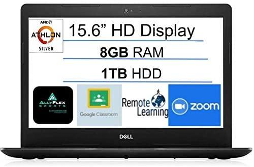 """2021 Newest Dell Inspiron 15 Business Laptop Computer: 15.6"""" HD Display, AMD Athlon Silver 3050U (Beats i5-7200U), 8GB DDR4 RAM, 1TB HDD, WiFi, Bluetooth, HDMI, Webcam, Windows 10 S, AllyFlex MP"""