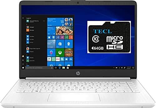 2021 HP Stream 14inch HD Display, Intel Celeron N4020 Dual-Core Processor, 4GB DDR4 Memory, 128 GB Storage (64GB eMMC+64GB TECL Card), WiFi, Webcam, Bluetooth, HDMI,1-Year Microsoft 365,Win10 S,White